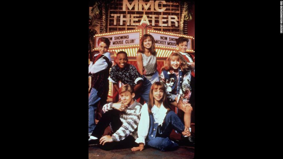 "As a youngster, Spears was a member of the a new generation of the ""Mickey Mouse Club."" She's shown here sitting next to Ryan Gosling in the front row. From left in the back row are T. J. Fantini, Tate Lynche, Nikki Deloach, Christina Aguilera and Justin Timberlake."