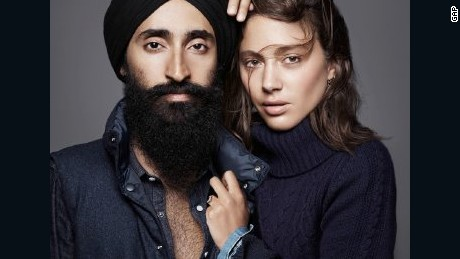 A 2013 Gap ad with Ahluwalia was defaced at a New York subway station.