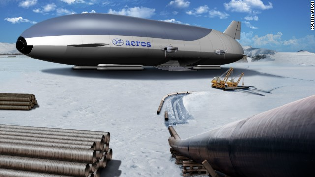 Artist's impression of an Arctic airship by Aeros.