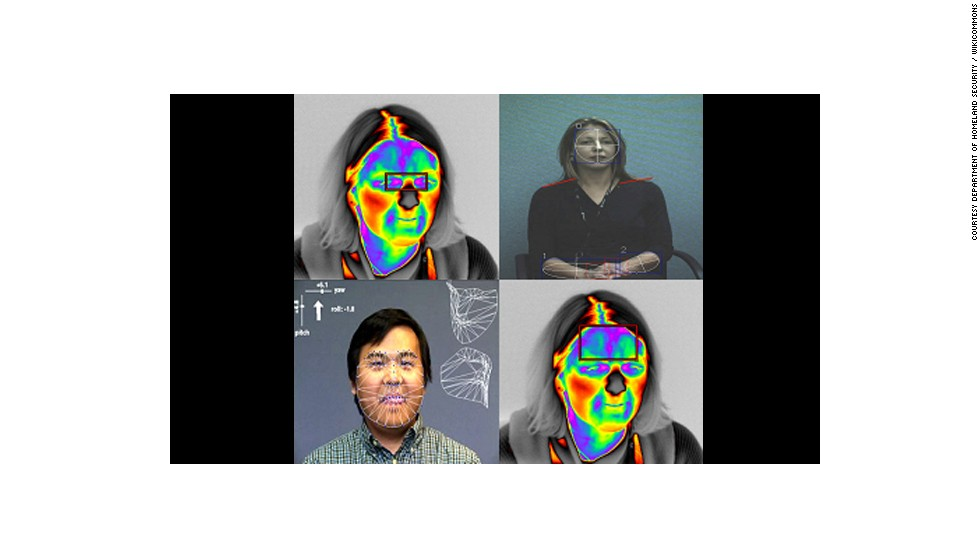"Future Attribute Screening Technology (FAST) can be used to remotely  detect ""mal intent"" in a person. Using eye trackers, respiratory sensors, thermal cameras, ""gesticular analytics"" and pheromone detection, Homeland Security hopes to use the technology in, say, airports, to identify potential criminals. There is huge debate surrounding the morality of the technology."
