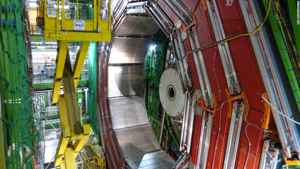 "An image of the Compact Muon Solenoid (CMS) experiment. ""The Higgs boson is the last missing piece of our current understanding of the most fundamental nature of the universe,"" Martin Archer, a physicist at Imperial College in London, told CNN. ""Only now with the LHC [Large Hadron Collider] are we able to really tick that box off and say 'This is how the universe works, or at least we think it does'."""