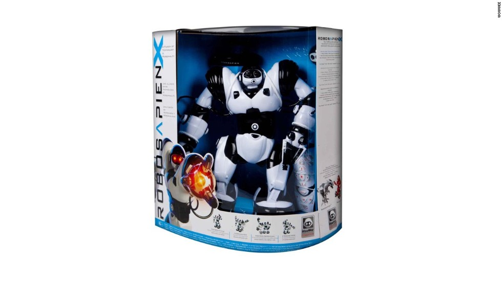 "<a href=""http://www.wowwee.com/en/products/toys/robots/robotics/robosapiens/robosapien-x"" target=""_blank""><strong>WowWee Robosapien X<strong></a></strong>. </strong>From the makers of the Roboraptor -- the remote-controlled dinosaur to get if you¹re getting remote-controlled dinosaurs -- comes the Robosapien X, an update of a product WowWee introduced 10 years ago. The updated version, a 14-inch humanoid robot, works with an included remote control -- or an iPhone or Android. Maybe humans and dinosaurs didn¹t exist at the same time, but kids can have a face-off between their robotic versions. ($99.99)"