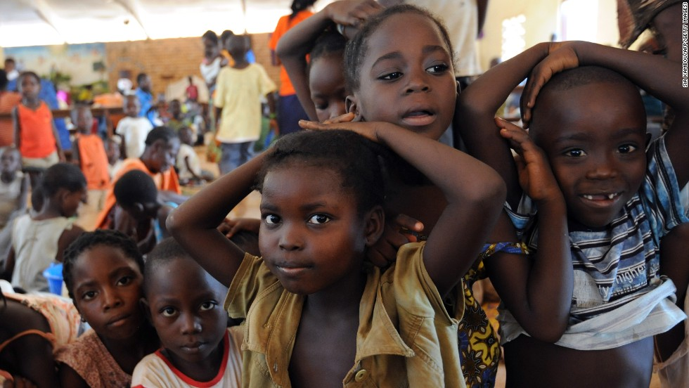 Children play inside Bangui's Saint-Bernard Church, where their families took refuge following the wave of deadly violence on December 7.