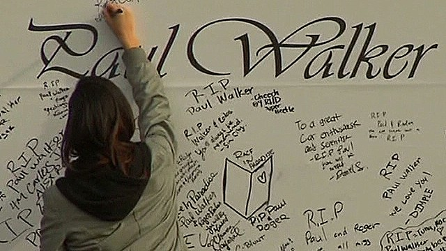 Fans pay tribute to Paul Walker