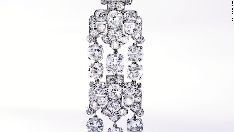 One of Daisy Fellowes' favorite jewelers was Cartier who created extraordinary bespoke pieces just for her. <br /><br />This elegant platinum and diamond brooch that the house created around 1925 was sold for $365,000 at the Sotheby's Magnificent Jewels auction.