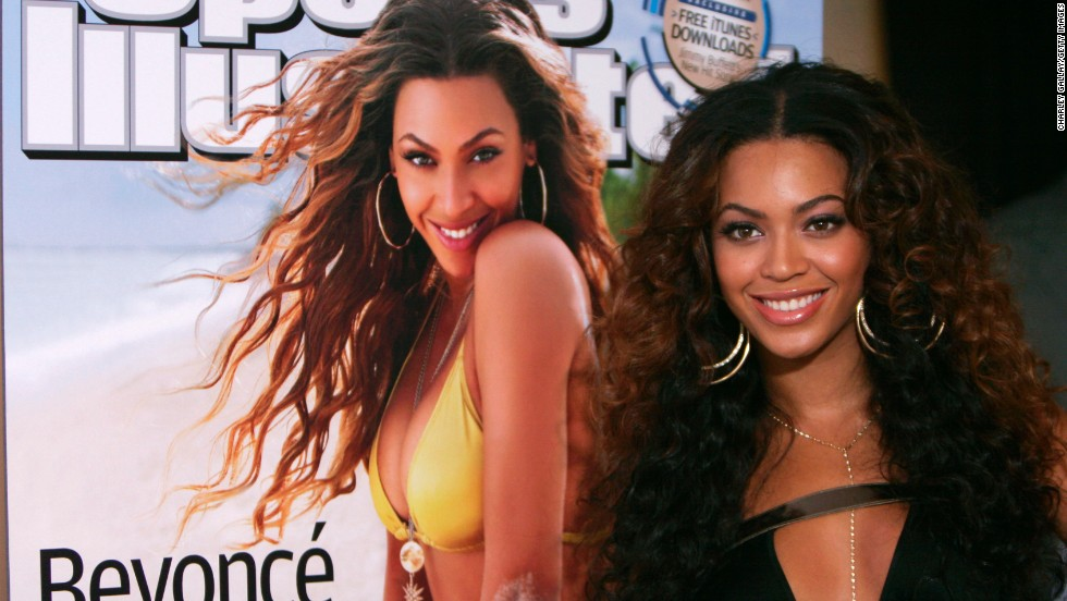 "Singer Beyonce is another to have made it into the magazine, appearing on the cover of the 2007 issue in a yellow bikini. The magazine billed it as: ""The dream girl as you've never seen her before."""