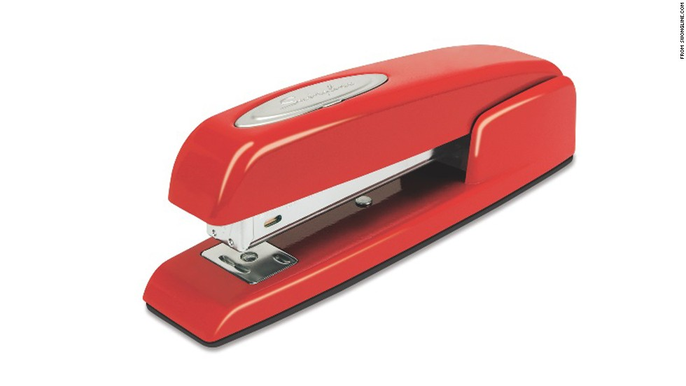 "Secret Santa gifts for office colleagues can be tricky. Sure, you know these people well, but work talk might be the only conversations you have. Give a gift that nods to what you know best: clever, funny or stylish office supplies, like the symbolic red Swingline stapler, a nod to the movie ""Office Space."""
