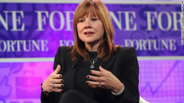WASHINGTON, DC - OCTOBER 16: Senior Vice President of Global Market Development of General Motors Mary Barra speaks onstage at the FORTUNE Most Powerful Women Summit on October 16, 2013 in Washington, DC. (Photo by Paul Morigi/Getty Images for FORTUNE)