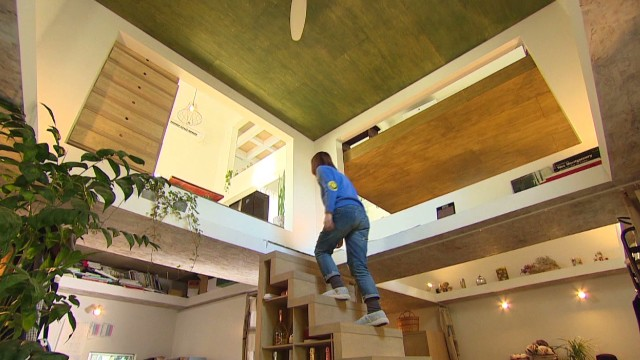 Japanese 'ninja' home maximizes space