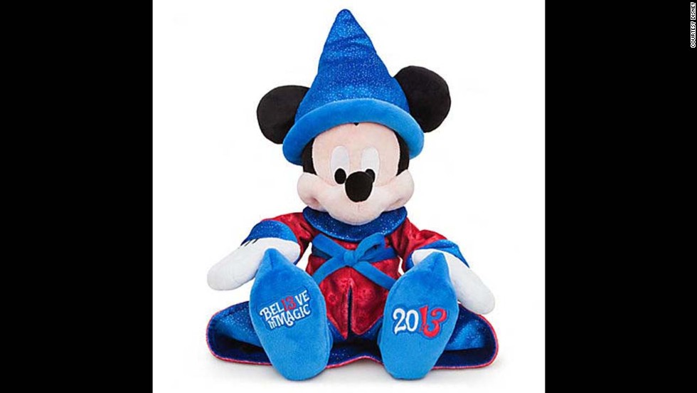 Mickey's Sorcerer's Apprentice plush souvenir doll by Disney. This well-known mouse has been the face of Disney for years, starting in 1928 when he was created by Ub Iwerks and Walt Disney.