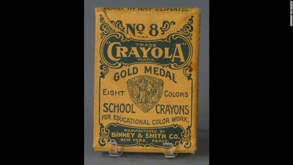 No. 8 Crayola School Crayons by The Binney & Smith Company (Crayola) circa 1905. Edwin Binney and C. Harold Smith started out producing pencils and chalk for classrooms. It wasn't until 1903 that they introduced the first box of eight Crayola crayons for 5 cents.
