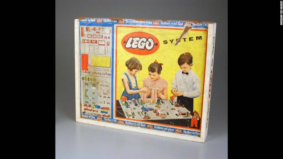 "Lego System construction set by Lego Systems Inc. circa 1950. The Lego Group was founded in 1932 by Ole Kirk Christiansen. The actual company began as a woodworking company, with its very first toy being a wooden duck. Later, Lego began making the plastic bricks that have started a future of architects. The word Lego comes from a Danish word meaning ""play well."""