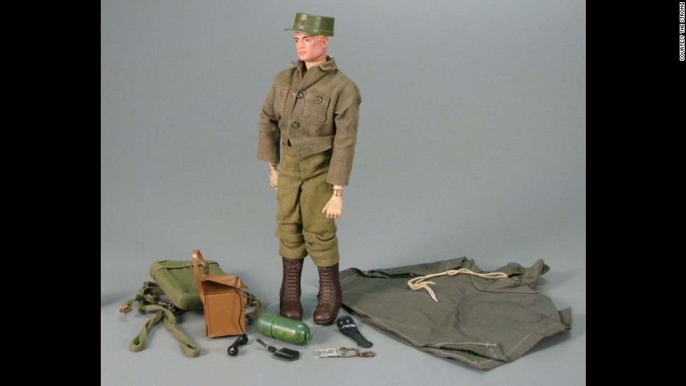 "G.I. Joe Action Soldier by Hasbro circa 1965.   G.I. Joe is ""America's Moveable Fighting Man,"" with 21 moving parts and representing each of the four branches of the US armed forces. The toy did $16.9 million in sales in its first year."