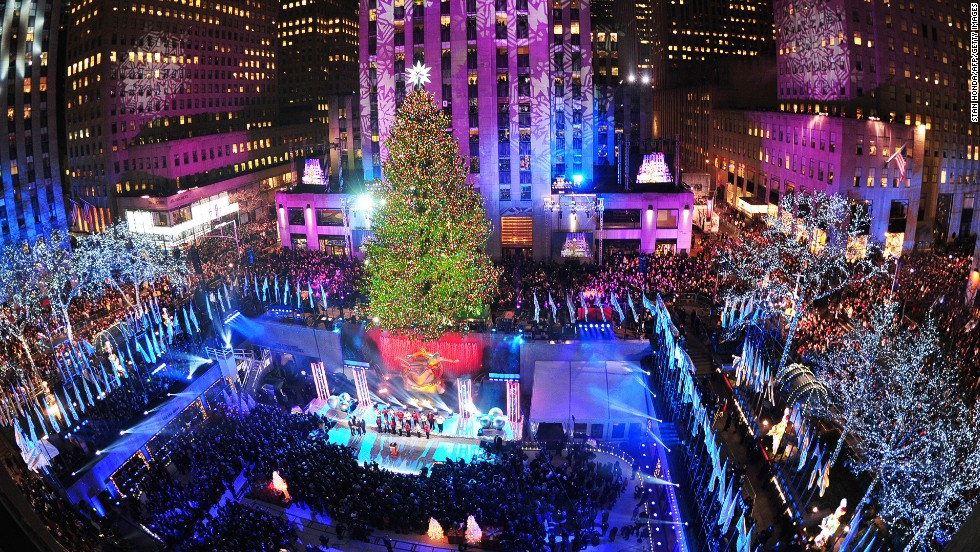 Rockefeller Center's ice rink has been around for 80 years; the decorated tree has been a holiday tradition since 1931.