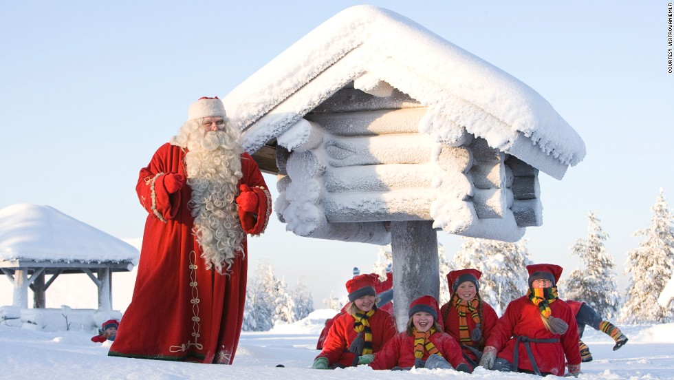 For Finns, Rovaniemi's location just north of the Arctic Circle is Christmas Central. Children make gingerbread cookies with Mrs. Claus, enroll in Elf School and write wish lists with a traditional quill.