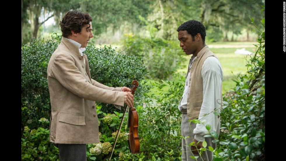 "Benedict Cumberbatch, left, and Chiwetel Ejiofor appear in ""12 Years a Slave,"" which won the Oscar in 2013. The story of Solomon Northup (Ejiofor), a free African-American man who was kidnapped and sold into slavery, won three awards: best picture, best supporting actress (Lupita Nyong'o) and best adapted screenplay (John Ridley)."
