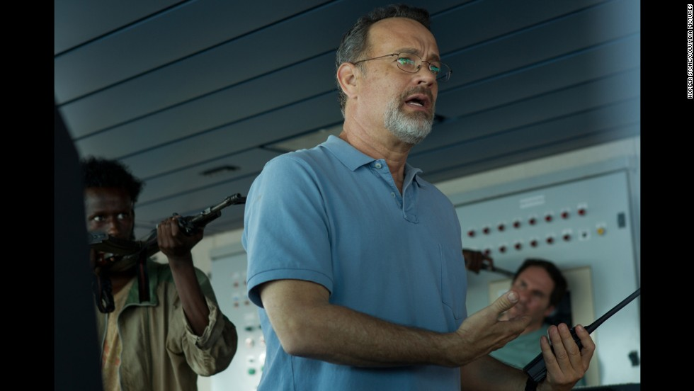 "Nominados a mejor actor - drama: Tom Hanks en ""Captain Phillips"" (foto), Chiwetel Ejiofor en ""12 Years a Slave,"" Idris Elba en ""Mandela: Long Walk to Freedom,"" Matthew McConaughey en ""Dallas Buyers Club"" y Robert Redford en ""All is Lost."""