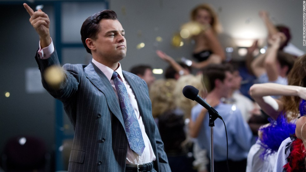 "Nominated for best actor in a motion picture -- comedy or musical were Leonardo DiCaprio in ""The Wolf of Wall Street"" (pictured), Christian Bale in ""American Hustle,"" Bruce Dern in ""Nebraska,"" Oscar Isaac in ""Inside Llewyn Davis"" and Joaquin Phoenix in ""Her."""