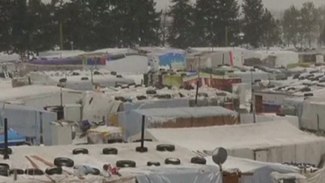 Miserable weather for Syrian refugees