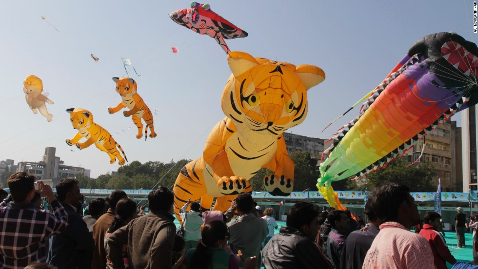Kite festivals are often associated with Makar Sankranti in India. Unlike people in other places in the Northern Hemisphere that mark the solstice in December, Hindus celebrate one of the most important festivals of the year in January.