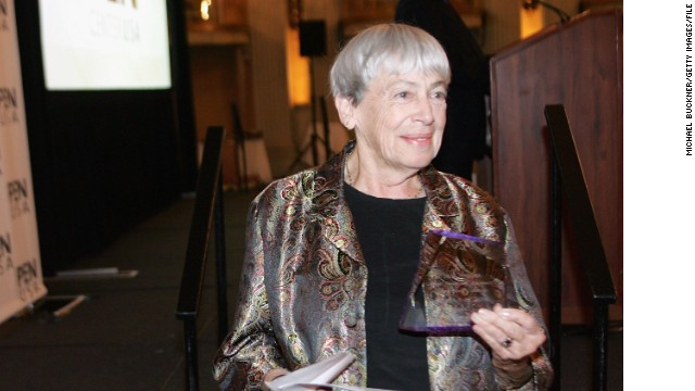 LOS ANGELES - NOVEMBER 9: Author Ursula K Le Guin poses with her award at the PEN USA Annual LitFest Awards Gala at the Biltmore Hotel on November 9, 2005 in Los Angeles, California. (Photo by Michael Buckner/Getty Images)