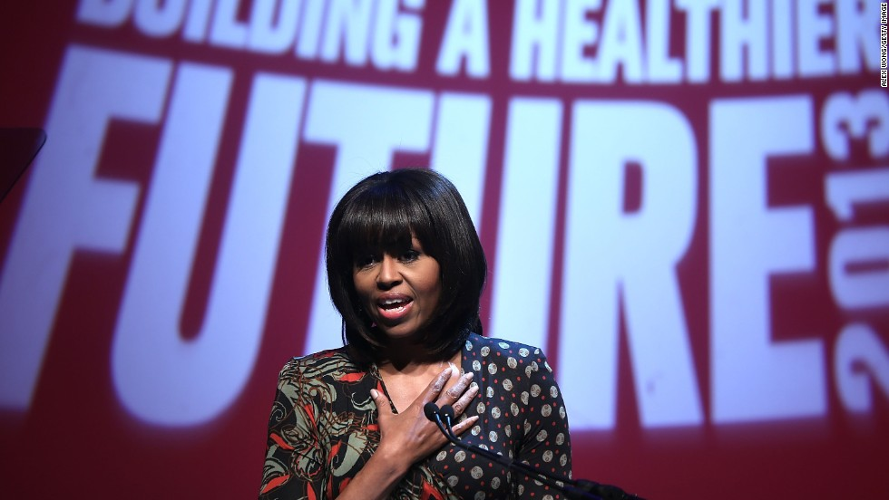 First Lady Michelle Obama has made health issues one of her campaigning themes during her husband's presidency.