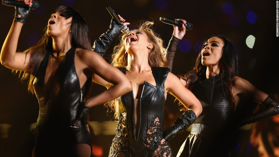 Kelly Rowland, Beyonce and Michelle Williams reunited as Destiny's Child to perform during the Super Bowl XLVII Halftime Show on February 3, 2013, in New Orleans.