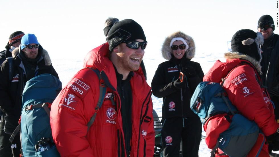 Prince Harry and the Walking With the Wounded teams leave Novo, Antarctica, for their second base camp at 87 degrees south, the starting point for the race.