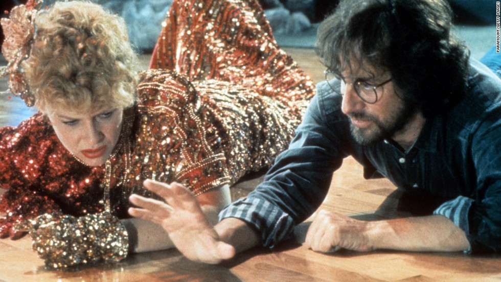 "Actress Kate Capshaw is directed by Spielberg on set of the film ""Indiana Jones and the Temple of Doom"" in 1984. Capshaw, who played Indiana Jones' love interest in the movie, would later become Spielberg's future wife. The year 1984 was also when Spielberg founded his production company Amblin Entertainment."