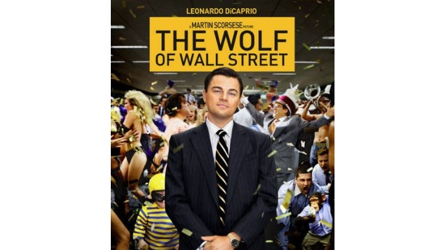 This is the promotional photo for 'Wolf of Wall Street'