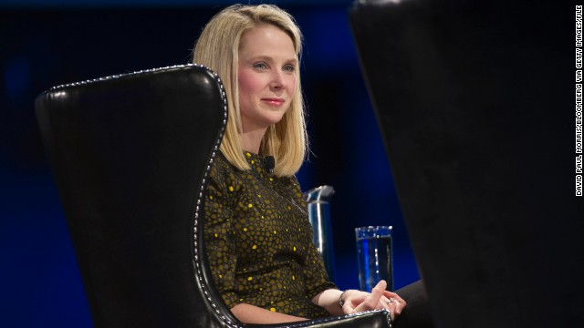 Yahoo CEO Marissa Mayer attends the Dreamforce Conference in San Francisco in November.