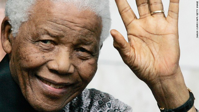 Former South African President Nelson Mandela leaves the Intercontinental hotel in London, on June 26, 2008. Former South African president Nelson Mandela spoke of a 'tragic failure of leadership' in Zimbabwe during a celebrity fundraising dinner in London Wednesday June 25, 2008 to mark his 90th birthday. In what are thought to be his first public comments on the situation, Mandela made a brief reference to Zimbabwe as he detailed a string of problems faced by the world. AFP PHOTO /Shaun Curry (Photo credit should read SHAUN CURRY/AFP/Getty Images)