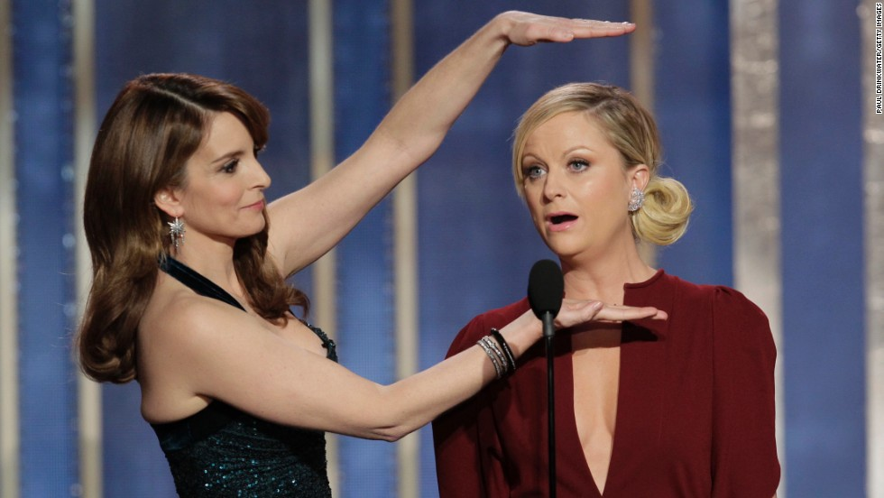 "Tina Fey and Amy Poehler wowed so much as hosts of the 70th Annual Golden Globe Awards in January that they snagged the gig for the <a href=""http://www.cnn.com/2013/10/15/showbiz/tv/tina-fey-amy-poehler-golden-globes/"">next few years.</a>"