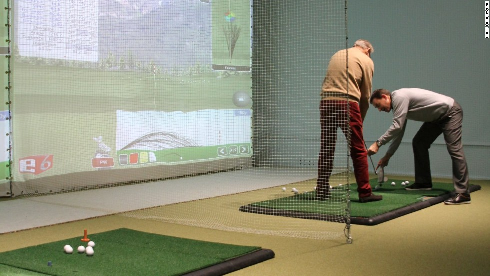 As well as its teaching booths, KGS now offers golfers the chance to play world-famous courses such as Augusta National or St. Andrews on one of its simulators.