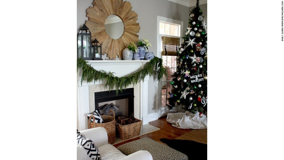 Emily Clark's holiday decor builds off of nature-inspired elements.