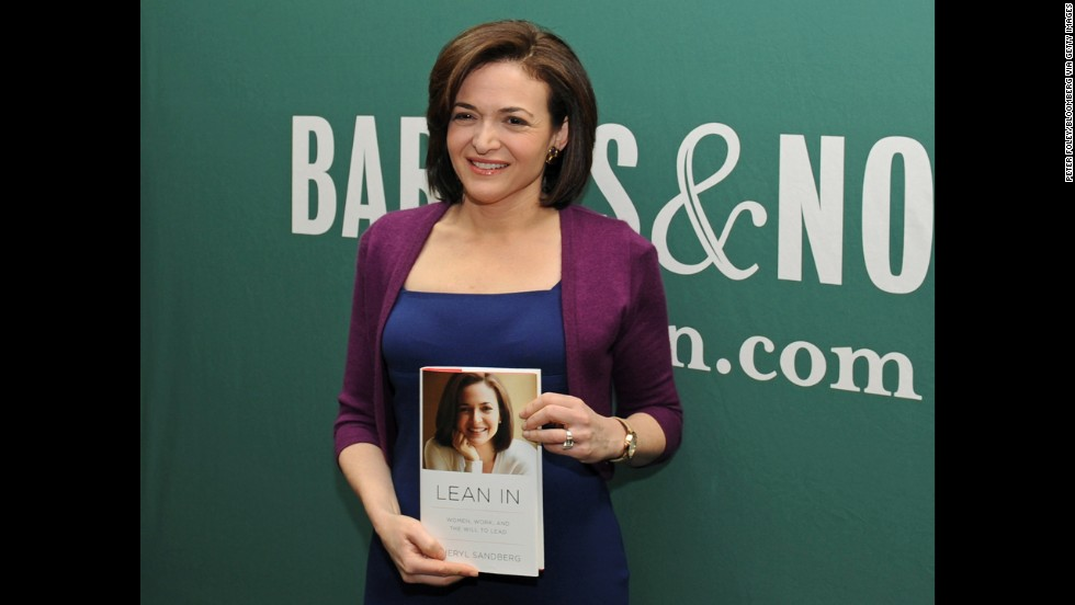 "Another woman who set off heated debate in 2013 was <a href=""http://www.cnn.com/2013/03/11/tech/social-media/sheryl-sandberg-profile-facebook/index.html"">Sheryl Sandberg</a>, author of the book ""Lean In."" Some women accused the Facebook COO of faulting women for failing to have sky-high career aspirations, especially when they have kids. Sandberg ultimately tried to clarify her message, saying it's up to each woman to decide whether she wants to be a corporate executive or a stay-at-home mother. ""'Lean In' is about believing in ourselves and reaching for any ambition,"" the <a href=""http://www.cnn.com/2013/07/29/living/parents-sheryl-sandberg-at-blogher/"">mom of two said at BlogHer,</a> the world's largest gathering of women bloggers."