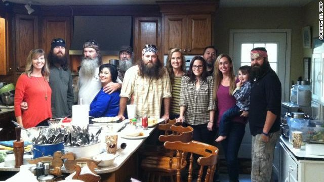 "S.E. Cupp, with the Robertson family, featured in ""Duck Dynasty""."