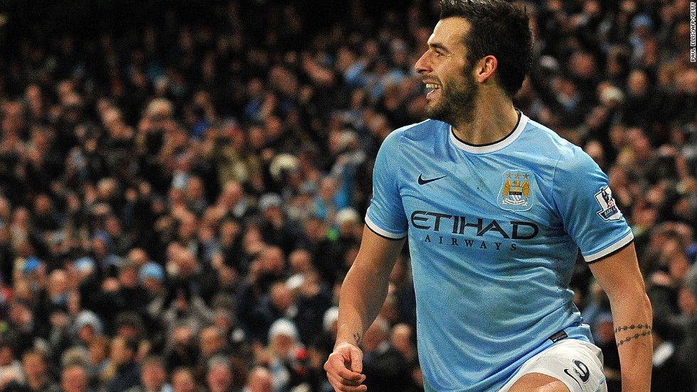 Alvaro Negredo scored the winner for Manchester City who beat Liverpool 2-1 at the Etihad to move to second in the standings. Liverpool drop to fourth.