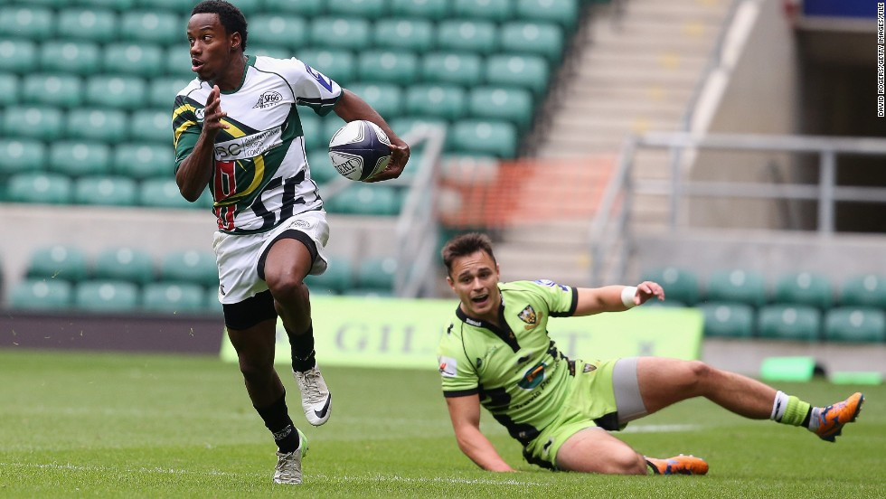 Seen here in action for San Francisco at the World Club Sevens in August 2013, Isles took up rugby the previous year.
