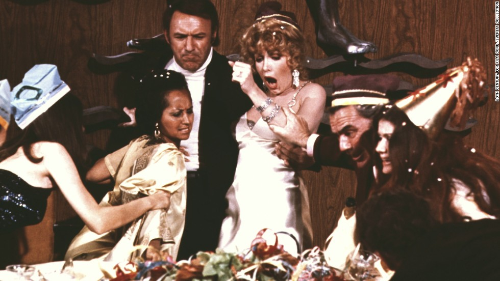 "<strong>""The Poseidon Adventure""</strong> -- The cruise ship Poseidon is hit by a tidal wave on New Year's Eve. A group of survivors (including Gene Hackman, Ernest Borgnine and Shelley Winters) has to get to the bottom of the boat to get to the top of the water -- through explosions, fire and flooded compartments. And you thought your NYE party was a disaster."