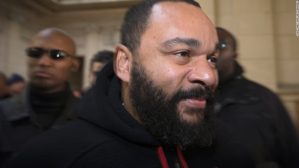 In November, Dieudonne M'Bala M'Bala was fined 28,000 euros ($38,591) for defamation, insults, incentive to hate and discrimination for remarks he made and a song broadcast in two videos on the internet.
