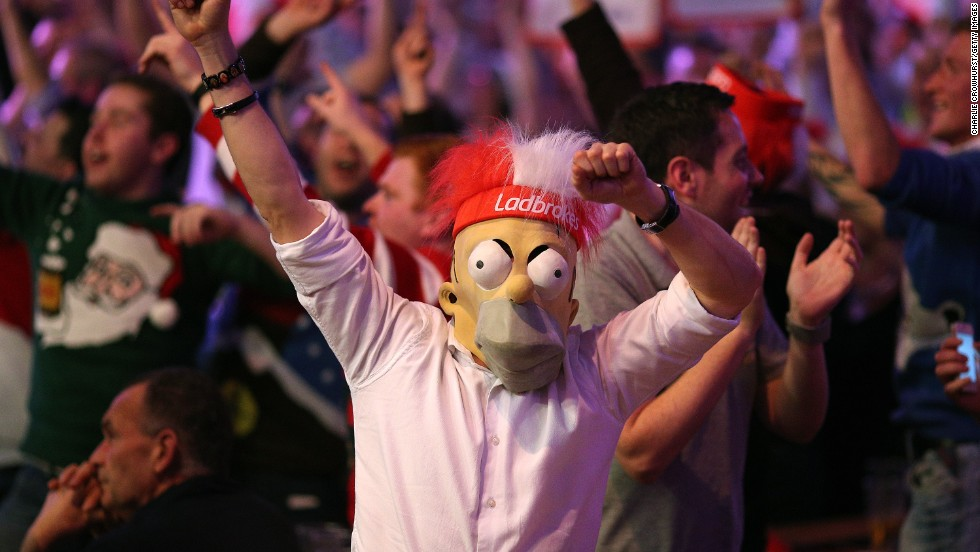 Singing, chanting and fancy dress -- it's all part of the experience at the darts. Crowds have increased year on year and have become more boisterous.