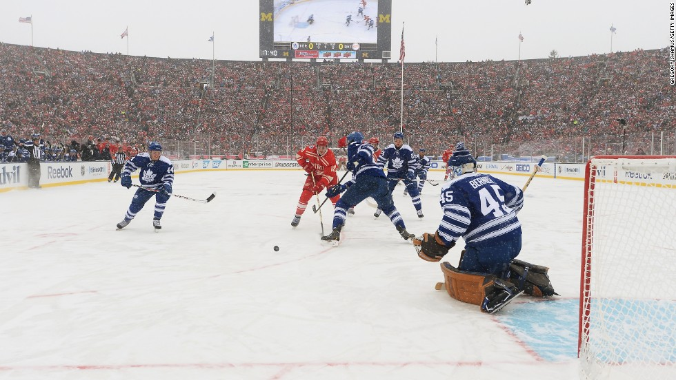 With temperatures at  minus 13 Celsius (13 Fahrenheit) and a wind chill of minus 1, those Winter Classic fans that had ventured out to watch the sport played in its original winter form are probably still thawing out. A steady snowfall also delayed traffic, causing some fans to miss the opening face-off.