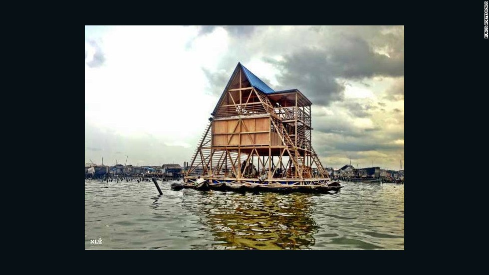 Kunle Adeyemi, the Nigerian-born founder of NLE Architects, made waves last year with the completion of one of his designs: a floating, three-story A-frame school built in Makoko, a slum on the waterfront of Lagos, Nigeria.