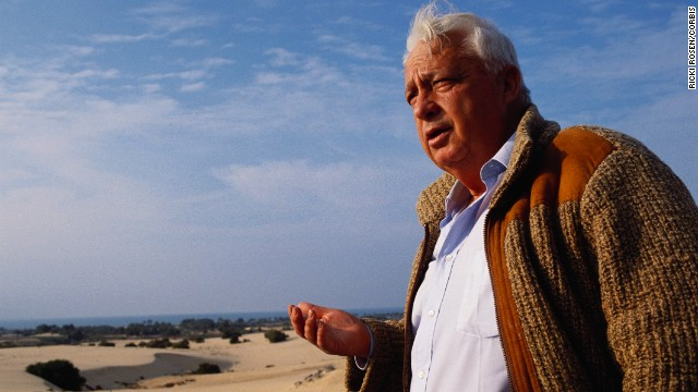 February 1990, Gaza, Gaza Strip --- Israeli political leader Ariel Sharon stands at the future site of a settlement in Gaza. ---
