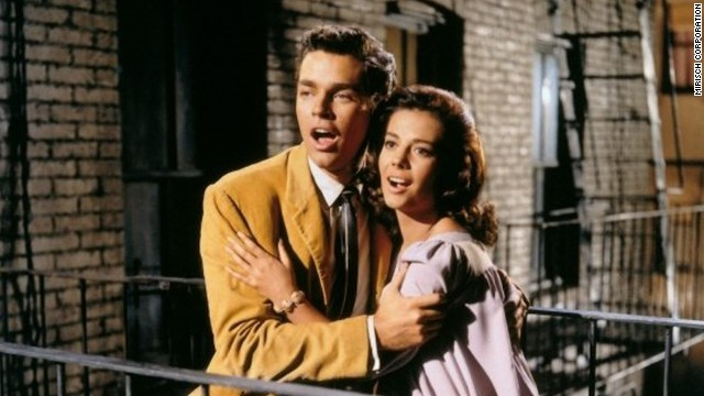 "Richard Beymer stars as Tony and Natalie Wood as Maria in the 1961 film version of ""West Side Story."""