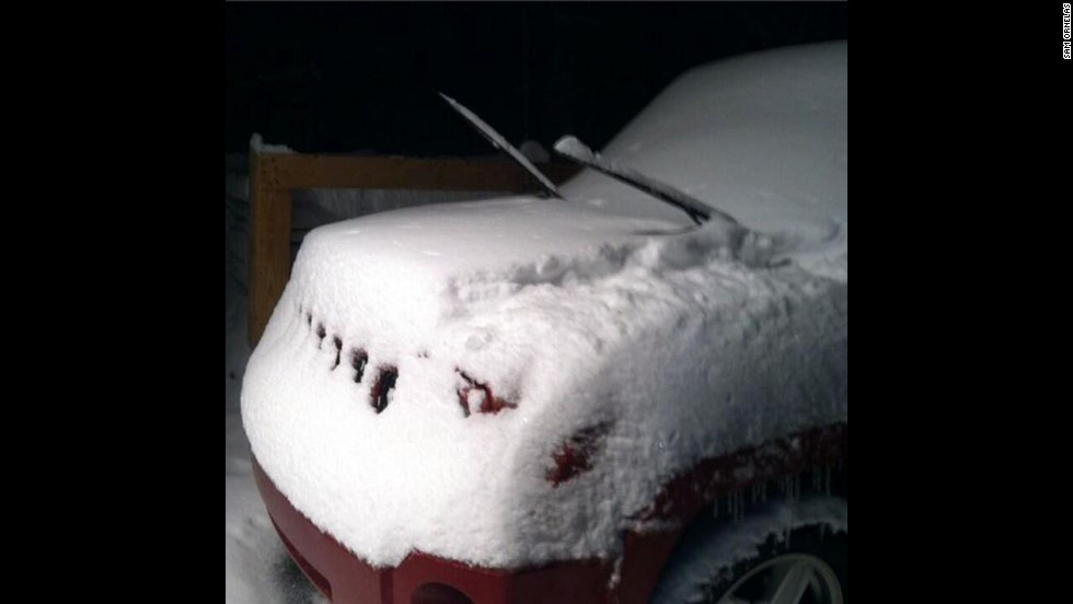 "Twitter user @SamOrnelas1 submitted this photo, writing: ""Good morning south eastern PA!! Looks like 6"" to me!"""