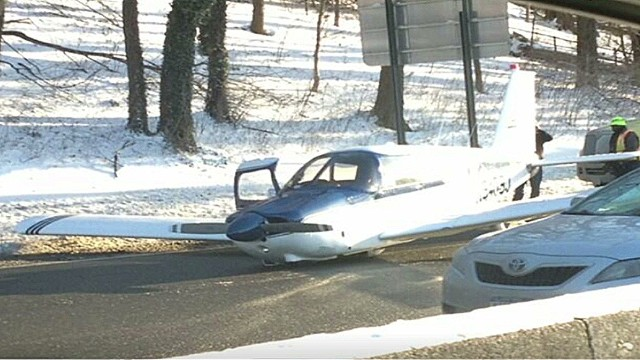Small plane lands on NY thruway