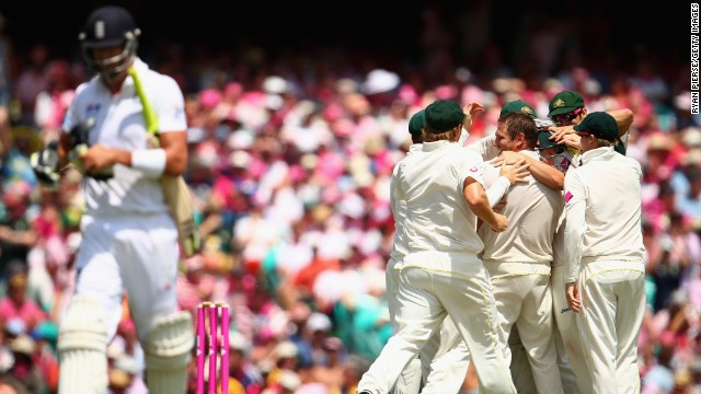 Australia did a lot of celebrating during the Ashes cricket series, beating England 5-0.