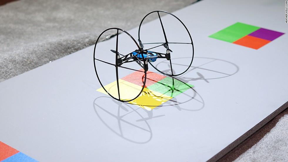 The Parrot MiniDrone is a very small smartphone-controlled drone.